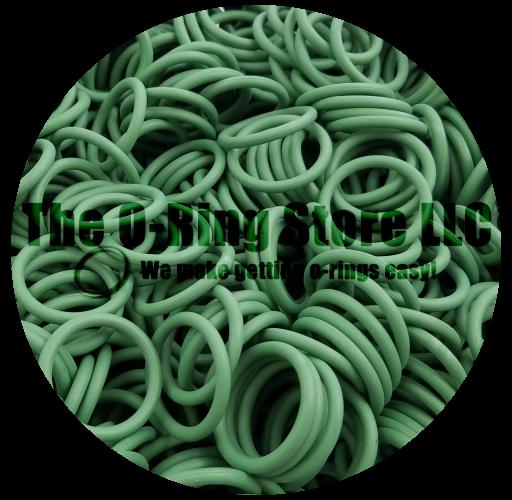 Line diameter:1.9mm) 20pcs Green FKM Rubber Airtight O-Ring Sealing ring